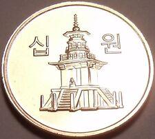 GEM UNC SOUTH KOREA 2009 10 WON~PAGOTA~FREE SHIPPING~