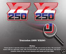 YAMAHA 1986 YZ250 SHROUD DECALS GRAPHICS LIKE NOS