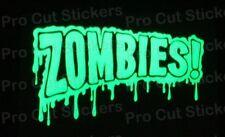 Zombies Walking Dead Pequeña a Grande Brilla en la oscuridad LUMINISCENTE