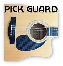 Acoustic guitar pickguard scratchplate in CARBON FIBRE EFFECT