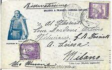 ITALIA - SPAGNA: UFFICIO POSTALE SPECIALE N.41 - 1939