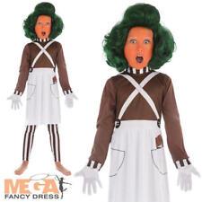 Chocolate Factory Worker Kids Fancy Dress Oompa Loompa Boys Girls Book Costume