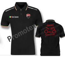 maglia polo DUCATI PANIGALE V4 cotone bordi tricolore italia racing maglietta