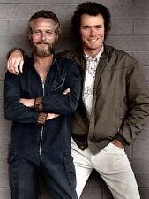 Paul Newman Clint Eastwood Retro Vintage Young Actors Huge Print POSTER Affiche