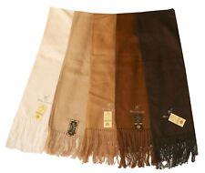 eleganter Alpaka Schal: Kaffee Braun Beige Weiß, Alpaca Wolle Peru, weich + warm