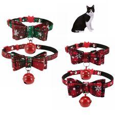 Christmas Cat Collar & Bell Small Medium Kitten Pet Breakaway Adjustable Collars