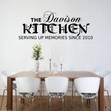personnalisé cuisine Souvenirs autocollant mural salon CITATION décalcomanie