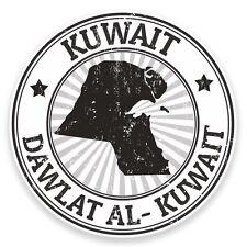 2 x Kuwait Flag Vinyl Sticker Car Travel Luggage #9299