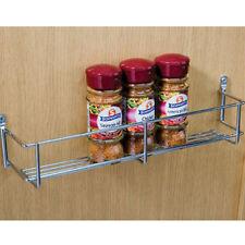 Portaspezie Singolo Livello 300mm cromati per cucina per sportello di armadio di stoccaggio muro