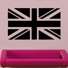 Bandera Británica de vinilo de etiquetas de pared arte mundo país Silueta