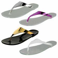 Ladies Spot On Jelly Toepost 'Sandals'