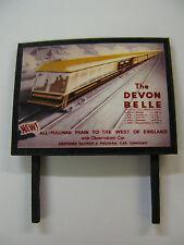 The Devon Belle - Model Railway Billboard - N Gauge, OO Gauge & O Gauge