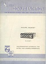 Dokumentation Philips Autoradio Tourist N4A24T 1962