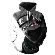 Cosplay Naruto Kakashi Anime Kapuzen Sweatshirt Langarm T-Shirt Hoodie Pullover