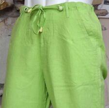 Men's Beach Linen Pants - Destination Wedding Draw String for Groom - Lime Green
