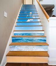 3D Blue Sea Beach 094 Risers Decoration Photo Mural Vinyl Decal Wallpaper CA