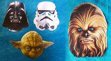 STAR WARS MASKE - Darth Vader - Yoda - Stormtrooper - Chewbacca NEU! für Kostüm