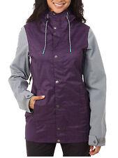 Volcom Stave Womens Snowboard Snow Ski Jacket Purple Gray XS