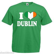 I Love Heart Dublin Ireland Adults Mens T Shirt 12 Colours Size S - 3XL
