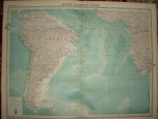 """1920 CARTA di grandi dimensioni Sud Oceano Atlantico rotte & C 23 """"X 18"""""""