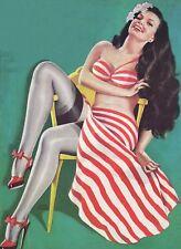 American Pinups: Beauty Parade - Blonde Girl Grocery Shopping - Driben - 1950