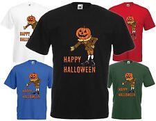 Happy Halloween Calabaza Hombre camiseta cool espeluznante Humor Divertido Regalo Fiesta Miedo FC