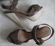 Dorothy Perkins chocolate high heel shoes Sandles (NEW) UK size 5- £40.00