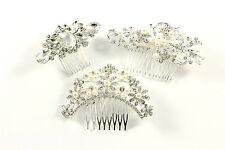 Haarkamm Haircomb Strass Perlen Blume Hochzeit Brautschmuck Haarschmuck B609