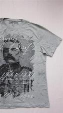 NUOVO semplicemente essere Uomo STORIA ARTE Throb Boar T-SHIRT TAGLIA L XL Grigio T-Shirt
