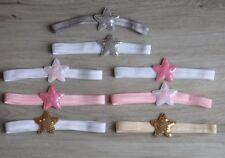 Baby Mädchen Stirnband Pailletten Sterne Star Haarband
