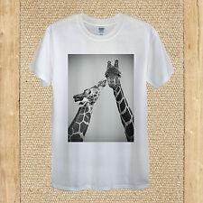 CUTE Giraffe T-Shirt Design/FUNNY LOVE sentire Viaggio Estate Unisex Donna Aderente