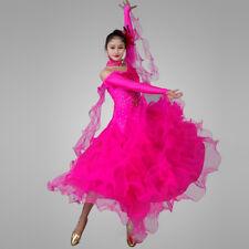 NEW Latin Ballroom Dance Dress Modern Salsa Waltz Standard Long Dress#CB016
