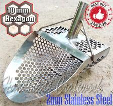 *HEXAHEDRON -10* Beach Sand Scoop Metal Detector Hunting Tool Stainless Steel