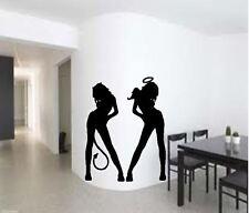 GOOD & EVIL L Donna Sexy Camera Da Letto Vinile Wall Art Decalcomania Sticker