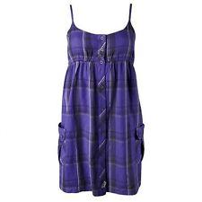 Fox Racing Femme Colisée robe prune motif écossais violet à bretelles