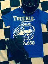 TROUBLE TRIUMPH 650 Tee bonneville tiger engine t140 t120 trophy frame hardtail