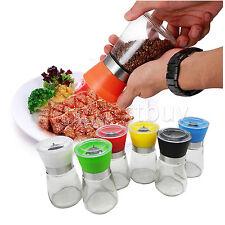 Manual Pepper Salt Herb Spice Mill Grinder bottle Pot cooking Kitchen Tool LOT