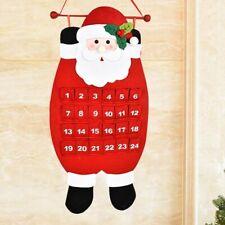 Non-woven Christmas Countdown Calendar Xmas Cute Home Deco Santa Hanging Pendant