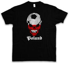 Classic Poland FOOTBALL Skull Flag T-Shirt – Calcio Fan punkhooligan bandiera Polonia