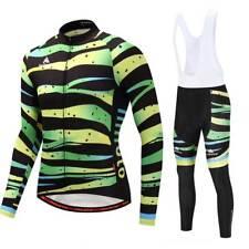 Men's Bicycle Clothes Kit Long Sleeve Cycling Jersey and Pants / Bib Tight Set