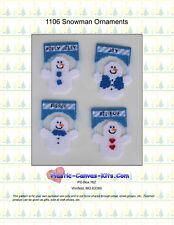 Snowman Christmas Ornaments-Plastic Canvas Pattern or Kit