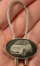 Fiat New 500 Schlüsselanhänger Keyring Gravur