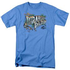 Jurassic Park Movie Greetings from Jurassic Park Postcard Tee Shirt Adult S-3XL
