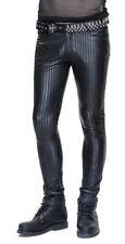 Pantalon homme noir moulant, type vinyl latex à rayures, gothique p Devil Fashio