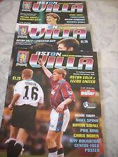 6.3.95 Aston Villa v Coventry City programme