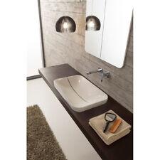 Lavandino Lavabo bagno rettangolare da incasso Design Mizu in ceramica