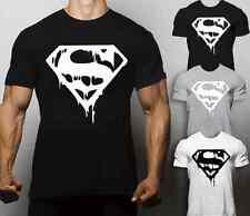 Superman Animal T Shirt Gym Motivation Bodybuilding Workout No Pain No Gain MMA