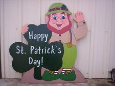 WAVING LEPRECHAUN St. Patricks Day Yard Art Decoration