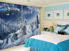 3D Airship Blockout Photo Curtain Printing Curtains Drapes Fabric Window CA