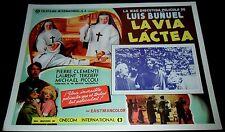 1969 The Milky Way ORIGINAL MEXICAN LOBBY CARD Luis Bunuel La voie lactée B